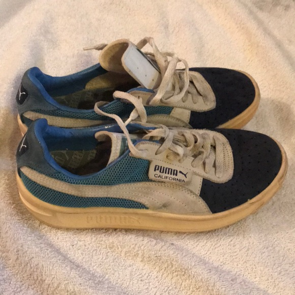 Vintage Baby Blue Puma California